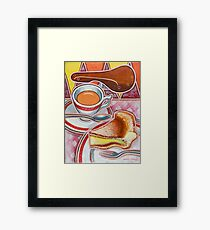 Eroica Britannia and Bakewell Pudding on Pink Framed Print