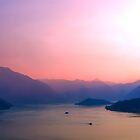 Sunset upon lake Como by krzysiekrodak