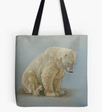 Polar bear sitting Tote Bag