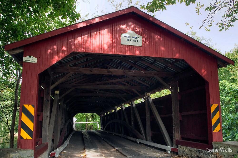 Oldest American Covered Bridge, The Rishel by Gene Walls