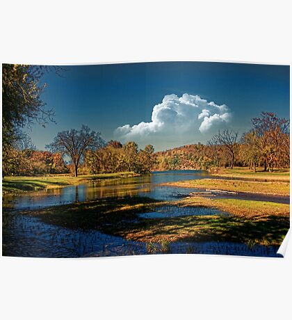 Autumn on South Fork Poster