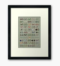 Fifty Bicycles Framed Print