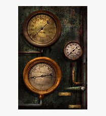 Steampunk - Plumbing - Gauging success Photographic Print