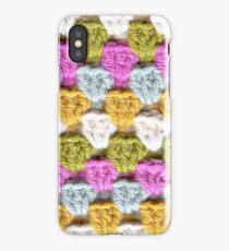 Crochet stitch close up iPhone Case/Skin