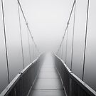 Grandfather Mountain Heavy Fog - Bridge to Nowhere by Dave Allen