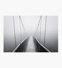 Grandfather Mountain Heavy Fog - Bridge to Nowhere Photographic Print