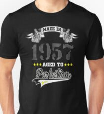 made in 1957-aged to perfection Unisex T-Shirt