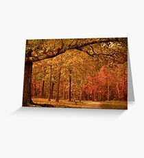 Amber Afternoon Greeting Card