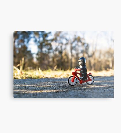 Gorillas bike, too Metal Print