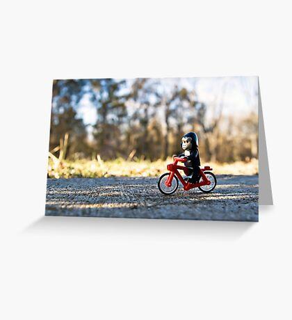 Gorillas bike, too Greeting Card