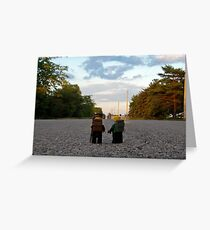 Hiker & Hitchhiker Greeting Card