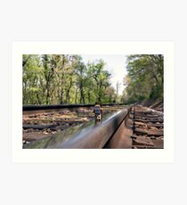 Down on the tracks Art Print