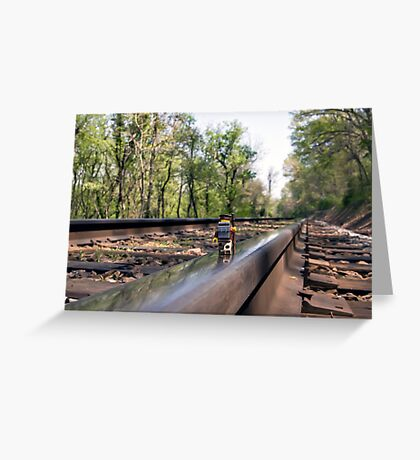 Down on the tracks Greeting Card