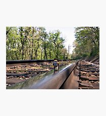 Down on the tracks Photographic Print