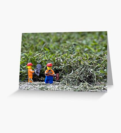 Yard Work Greeting Card