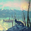 Arctic Fox - Icy Winter Sunset by MylaFox