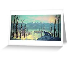 Arctic Fox - Icy Winter Sunset Greeting Card