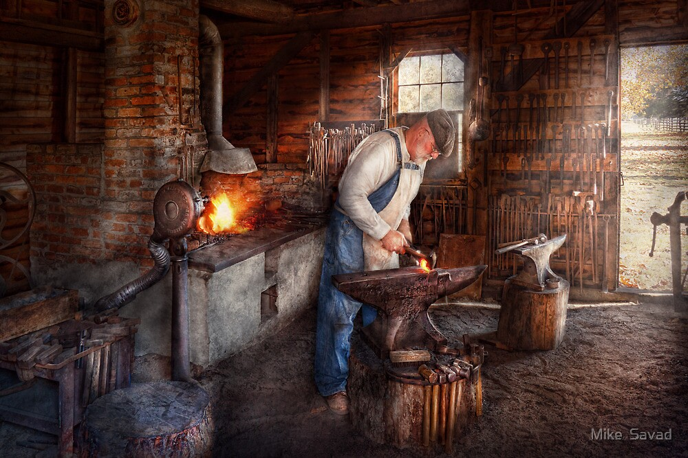 Blacksmith - The Smith by Mike  Savad