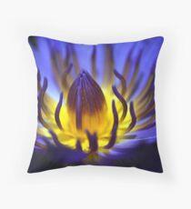 Nymphaea caerulea Throw Pillow