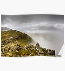 Crinkle Crags in the Clouds Poster