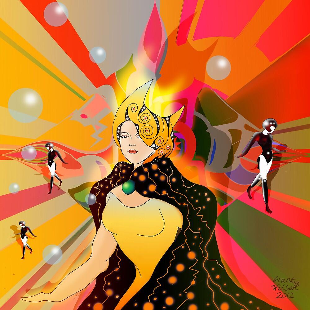 Princess of light beams by Grant Wilson