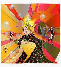 Princess of light beams Poster