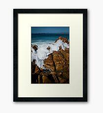 Granite Coast line, Tasmania Framed Print