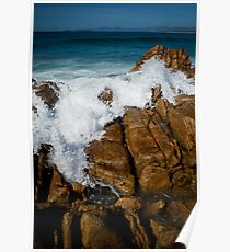 Granite Coast line, Tasmania Poster