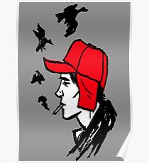 Red Hunting Cap Poster