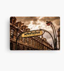 Metro of Paris near The Louvre Canvas Print
