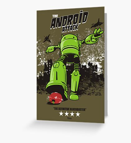 ANDROID ATTACK Greeting Card