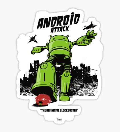 ANDROID ATTACK Sticker