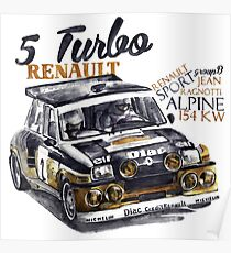 Rally Group B-Renault 5 Turbo Poster