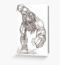 Juggernaut Greeting Card