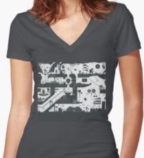 Vector Doodle Section 1 Women's Fitted V-Neck T-Shirt