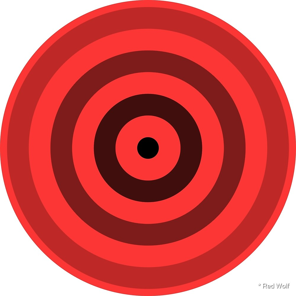Geometric Pattern: Rondel: Black Gradient Red by * Red Wolf