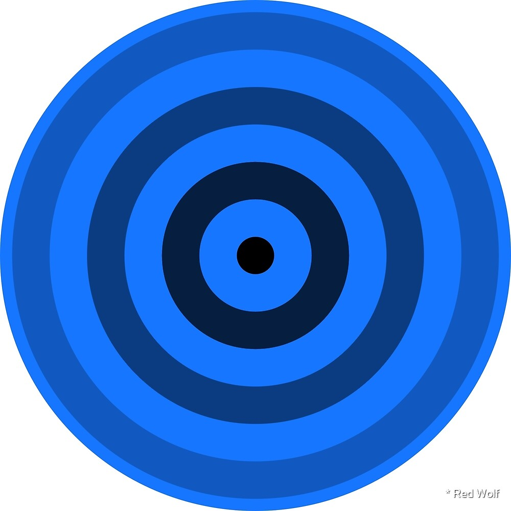 Geometric Pattern: Rondel: Black Gradient Blue by * Red Wolf