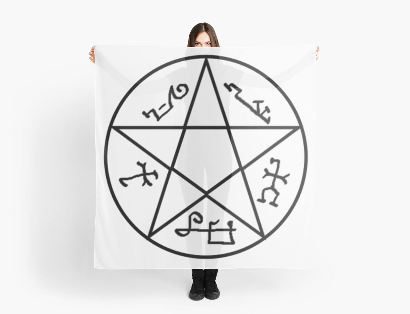 Supernatural Devils Trap Symbol Scarves By Winkham Redbubble
