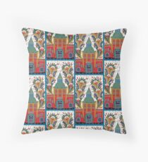 Stockholm Food Hall Throw Pillow
