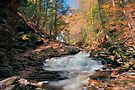 Perfect Autumn Day at Seneca Falls by Gene Walls