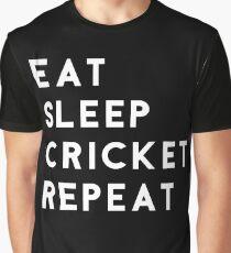 Eat Sleep Cricket Repeat Graphic T-Shirt