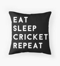 Eat Sleep Cricket Repeat Throw Pillow