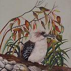Laughing Kookaburra           Australia by sandysartstudio