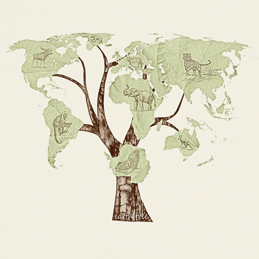 Earth Tree (Fauna) by Paula Belle Flores