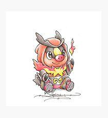 Tepig Pokemon Photographic Print