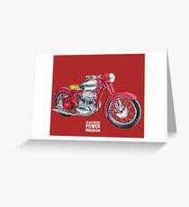 JAWA 500 oldschool, power, freedom - motorcycle Greeting Card