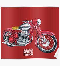 JAWA 500 oldschool, power, freedom - motorcycle Poster