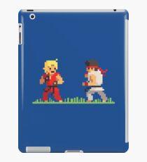 """Pixel Fighter """"Ken vs Ryu"""" iPad Case/Skin"""