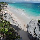 Tulum beach by Alain Robillard