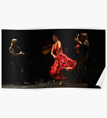 Toca Flamenco Red Dance Poster